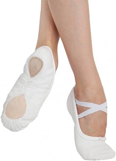 Amazon.com | Canvas Ballet Shoes White