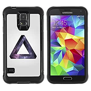 Hybrid Anti-Shock Defend Case for Samsung Galaxy S5 / Space Hipster Galaxy Triangle