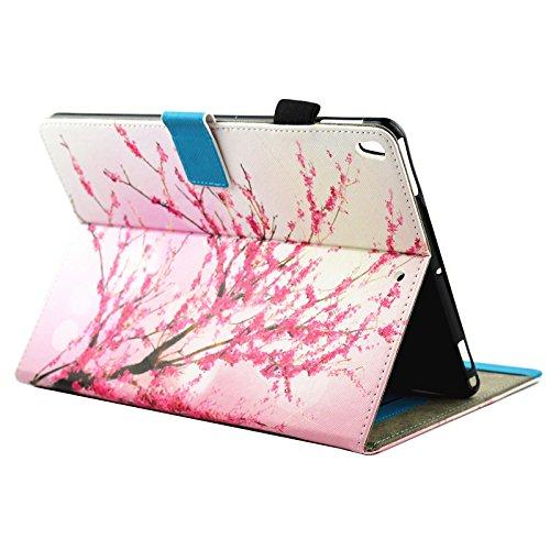 inShang iPad iPad Pro 10.5 Fundas soporte y carcasa para iPad Pro 10.5 inch ((2017 Release) , smart cover PU Funda con Patrón de Diamante + clase alta 2 in 1 inShang marca negocio Stylus pluma Peach blossom