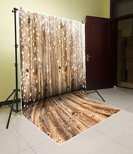 Vintage Wood Floor Wall Backdrop Vinyl Photography Background Newborn Photo Studio Props ()