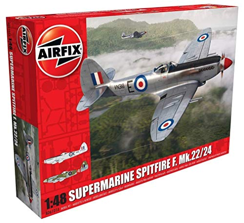 Airfix Supermarine Spitfire F. MK 22/24 1:48 Military for sale  Delivered anywhere in USA