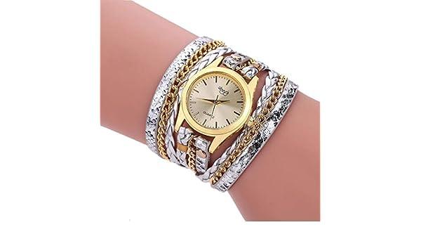 Amazon.com: Womens Watch,Women Weave Snake Pattern Multi-layers Quartz Wrist Watch Bracelet: Clothing