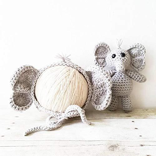 Crochet Elephant Hat/baby hat/crochet baby hat/baby girl hat ... | 500x500