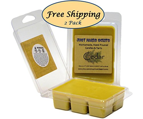 2 Pack - Cedar Scented Wax Melts by Just Makes Scents