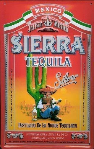Tarfy Sierra Tequila Silver Blechschild Schild Blech l Retro ...