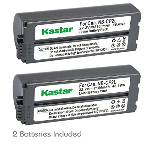 Kastar Battery NB-CP2L 2-Pack for Canon NB-CP1L NB-CP2L and Canon Compact Photo Printers SELPHY CP100 CP200 CP220 CP300 CP330 CP400 CP510 CP600 CP710 CP730 CP770 CP780 CP790 CP800 CP900 CP910 CP1200