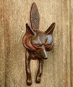 Fox Door Knocker, Cast Iron  Rust