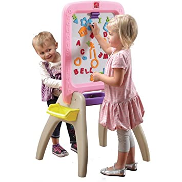 Amazon Com Step2 All Around Easel For Two Pink Baby