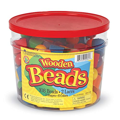 Learning Resources Beads in a Bucket Set of 108 ()