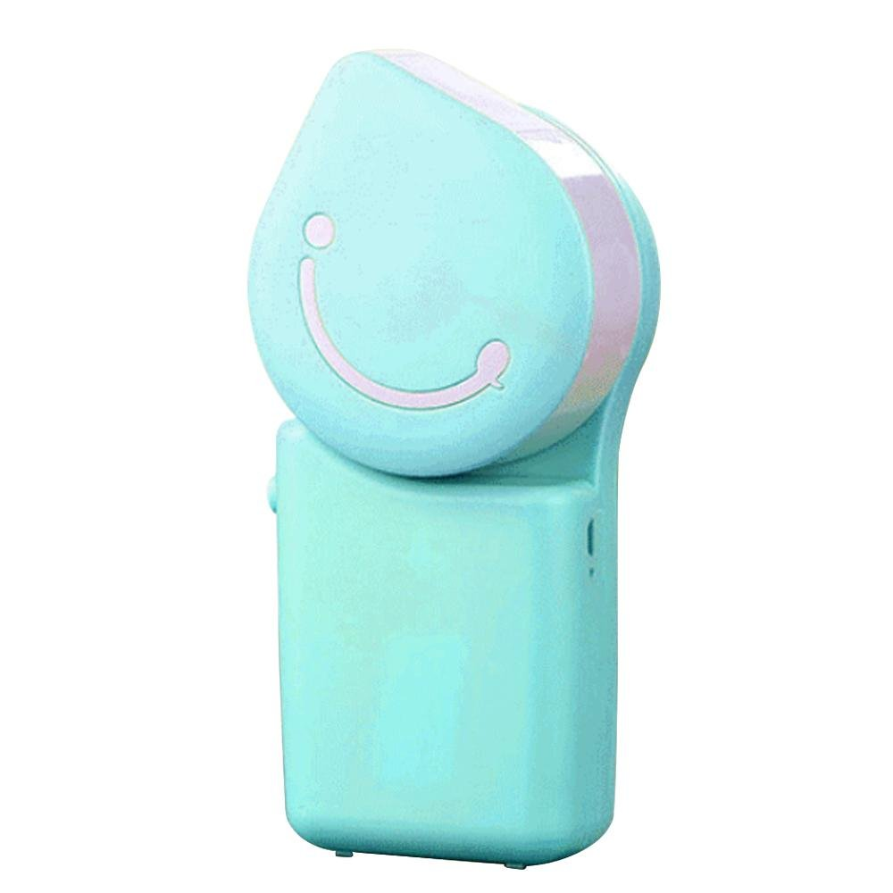 KOBWA Portable Handheld Mini USB Air Conditioner Summer Bladeless Small Personal Fan,With USB Charging Cable,Suitable for Outdoor/Travel/Family/Office,Silent