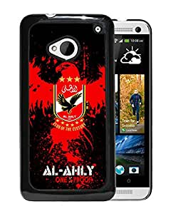 New Fashion Custom Designed Skin Case For HTC ONE M7 With Al Ahly Black Phone Case 1