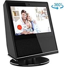 Stand for Echo Show, YoFeW Full Aluminum Stand Mount for Amazon Echo Show 360 Rotatable Metal Base Protector Accessories for Amazon Show with Precision Bearings, Black