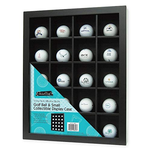 (MCS 11x14 Inch Golf Ball Display Case for 20 Balls, Black (46643))