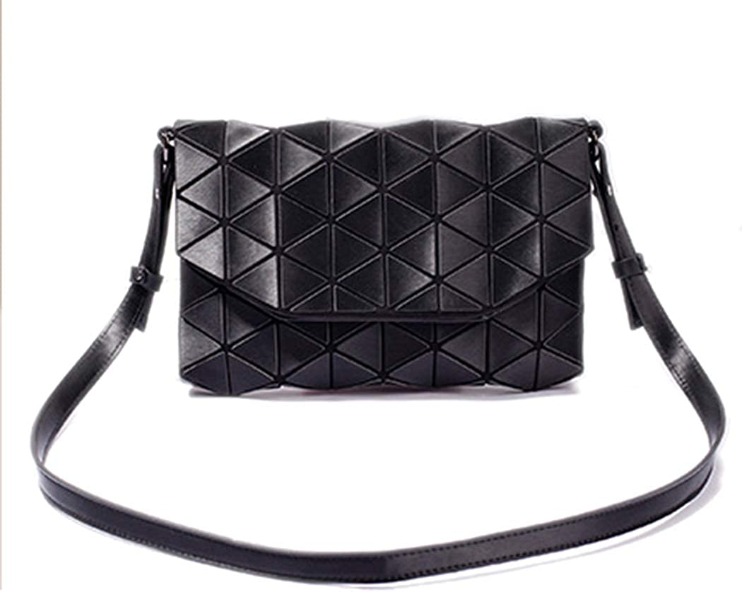 Women's Fold-Over Envelop Chain Crossbody Bag Geometric Daily Handbag Lattice Evening Purse