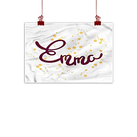 Amazon Com Sunset Glow Wall Painting Prints Emma Girl Name Curved