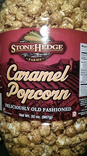 Caramel Covered Popcorn - StoneHedge Farms Caramel Popcorn Deliciously Old Fashioned 32 Oz. Tall Tub Jar!!!!!!!!!