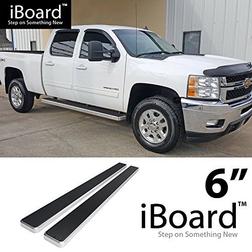 Truck Step Rails - 6 inch eBoard Running Boards Aluminum For 07-16 Chevy Silverado/GMC Sierra Crew Cab Side Step Rails Tube Nerf Bars