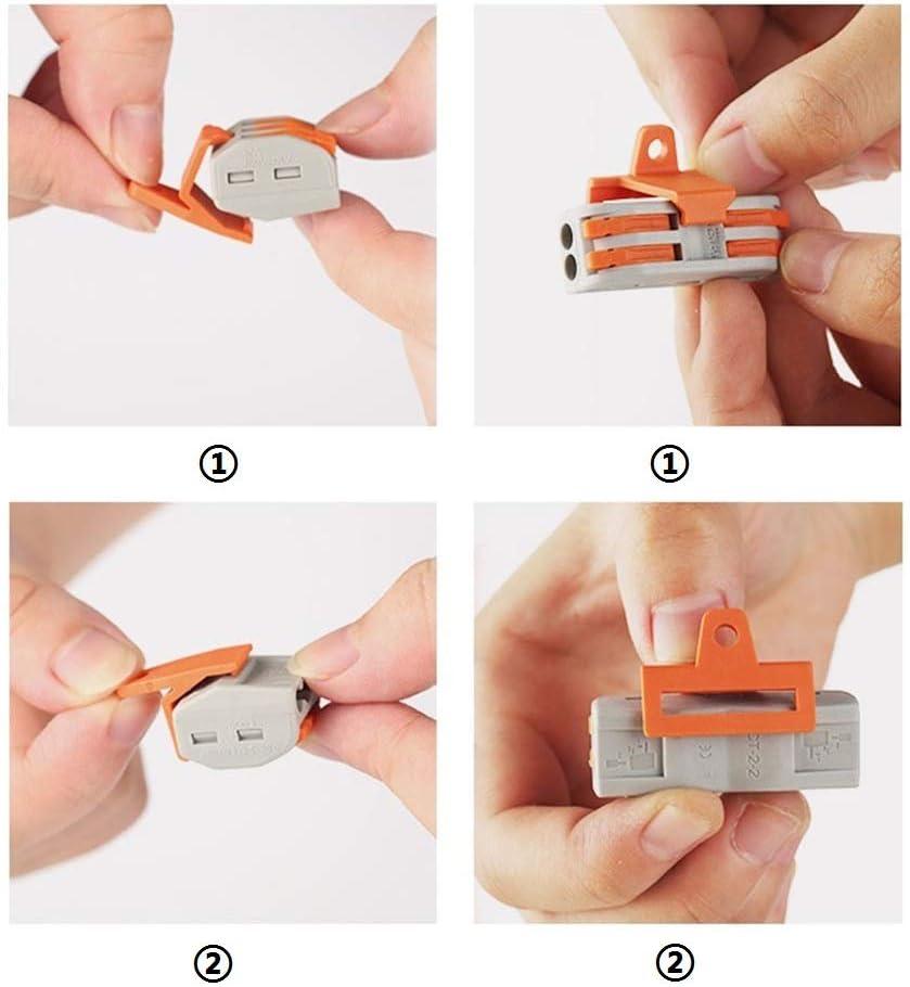 8 Agujero Terminal de conexi/ón Con clip de retenci/ón 50pcs 222 Bornas de conexi/ón,Conductor compacto Conectores