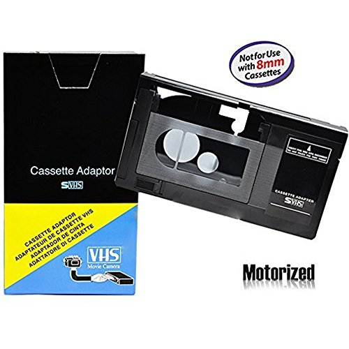 Motorized VHS-C Cassette Adapter For JVC C-P7U CP6BKU C-P6U,Panasonic PV-P1,RCA VCA115, Model: , Electronics & Accessories Store (8mm Vcr Player)