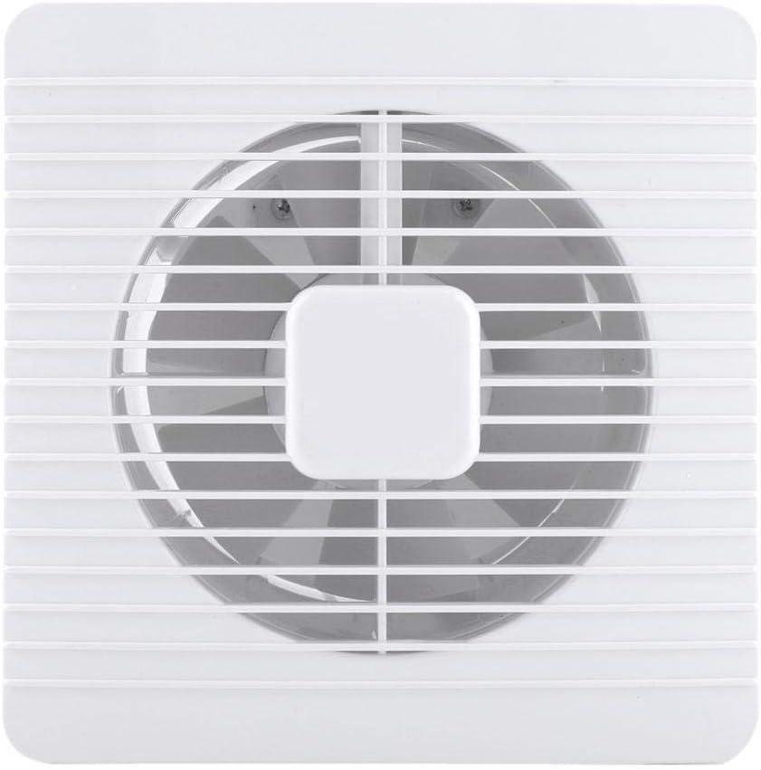20W Extractor Ventilador montado en la pared Extractor Ventilador Bajo nivel de ruido Cuarto de baño Ventilación de aire Humedad Olores Ventilación Booster para doméstico 220V