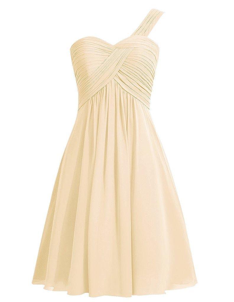 Snowskite Womens One Shoulder Short Empire Womens Party Bridesmaid Dress