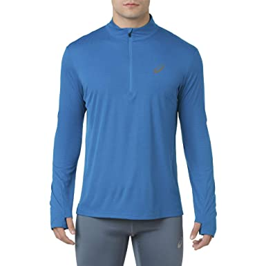 72c65231b96 Asics Silver Long Sleeve 1/2 Zip Top - SS19: Amazon.co.uk: Clothing