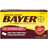 Genuine Bayer Aspirin 325mg Tablets, 100-Count
