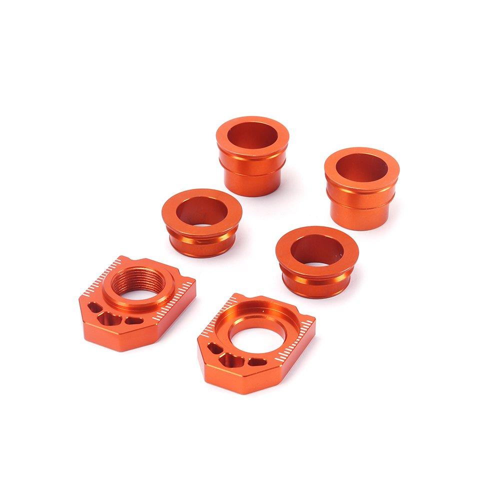 JFG RACING CNC Rear Axle Blocks Chain Adjuster For Husqvarna TC85 14 TC125 FC350 FC250 FC450 14-15 TC250 TE125-300 FE250-501 14-16