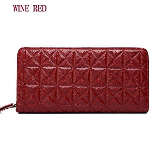 Eysee - Cartera de mano para mujer rojo vino