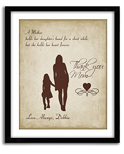Personalized Art Print for Mom From Daughter- 'A Mother Holds...'