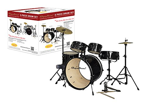 Spectrum AIL 672BK 5-Piece Complete Drum Set with Bonus 250-Pound Capacity Drum (Ludwig Custom Drum)