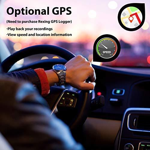Rexing Car Cam LCD FHD 1080p Dashboard G-Sensor, WDR,