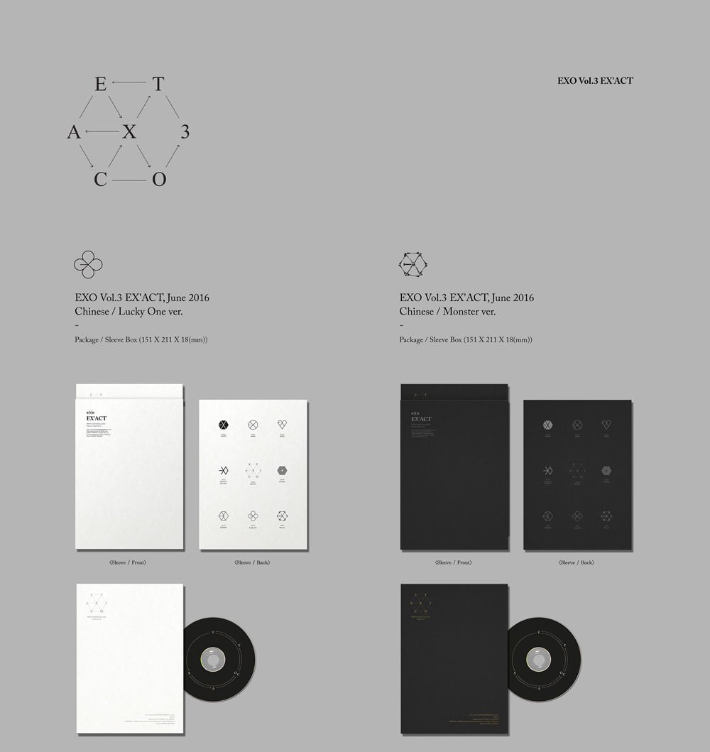 EXO - EXO - [EX'ACT] 3rd Album CHINESE MONSTER Ver. CD+124p Photo Book+1p Photo Card+extra Photocards set K-POP Sealed - Amazon.com Music