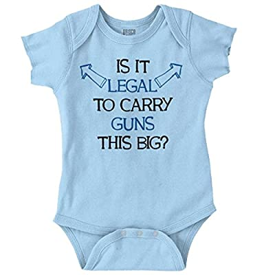 Brisco Brands is It Legal Carry Arms This Big Funny Baby Romper Bodysuit