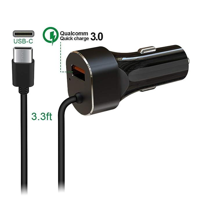Quick Charge3.0 - Cargador de coche USB C PD, adaptador de carga ...