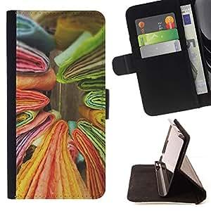 ForSamsung Galaxy S3 MINI i8190 (NOT S3) Case , Libros Verde Amarillo Colorido- la tarjeta de Crédito Slots PU Funda de cuero Monedero caso cubierta de piel