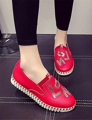 Mujer Uk3 tacón 5 Plano Uk4 Red Red Blanco us5 mocasines Deporte Rojo semicuero 5 Eu36 De us6 exterior Gyht Cn36 Zq Cn35 negro Zapatos comfort tIqBBF