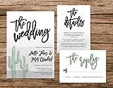 Cactus Wedding Invitation, Desert Watercolor Wedding Invitation, Arizona Wedding Suite