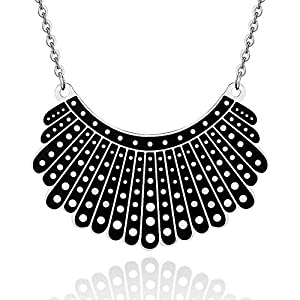 VALOVEN Dissent Collar Necklace for Women - Feminist Gift Stainless Steel Jewelry