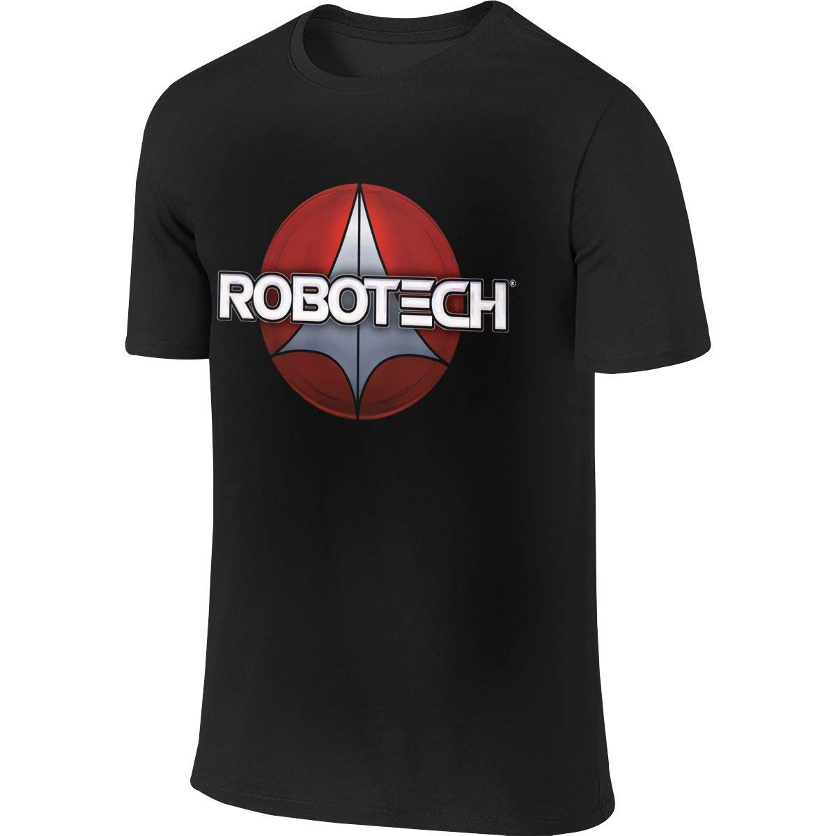 Robotech Logo Anime Men Summer Round Neckline Fashion Loose Short Sleeve T-Shirt