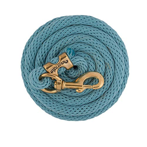 - Weaver Leather Poly Lead Rope with a Solid Brass 225 Snap, Slate Blue