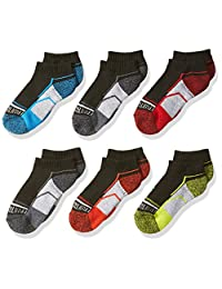 Fruit of the Loom Big Boy's 6 Pack Athletic Low Cut Socks