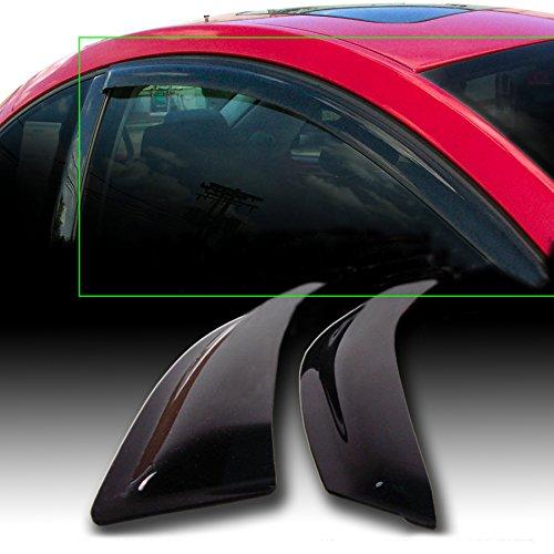 JJ 92602 Front Smoke Sun/Rain Guard Vent Shade Window Visors For 96-00 Honda Civic 2-Door Coupe