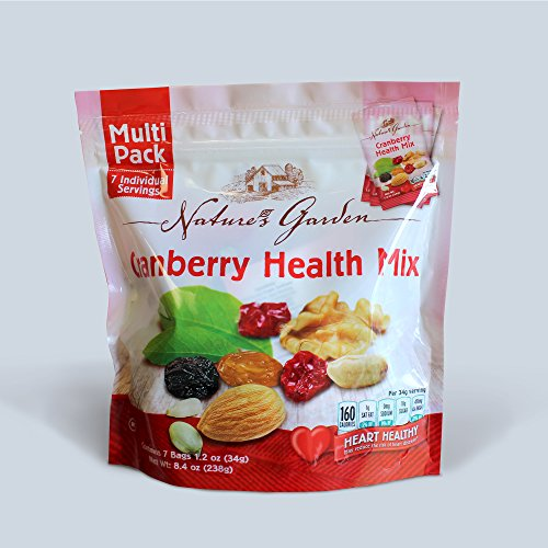 Natures Garden Cranberry Health Mix, Single Serve Bags 7pk (Cranberry Mix Trail)