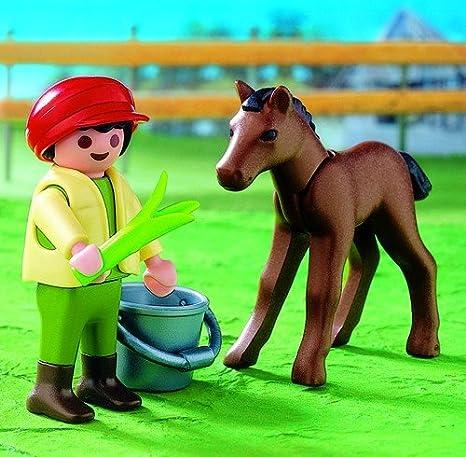 PLAYMOBIL Clicks Granja Niño con Pony