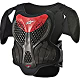 Alpinestars A-5 S Boy's Off-Road Body Armor - Black/Red / Small/Medium