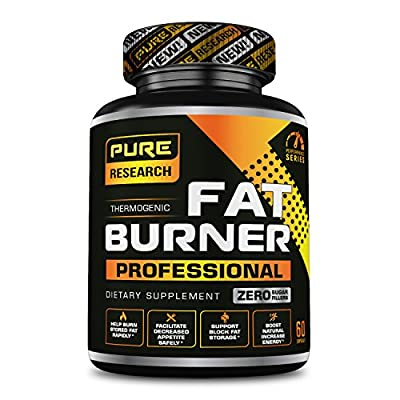 Pure Research Thermogenic Fat Burner :: 60 Day Supply :: Weight Loss Pills for Men and Women :: Appetite Suppressant :: Energy Booster :: Endurance & Metabolism Support