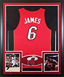 Lebron James Framed Jersey Signed UDA UpperDeck COA Autographed Miami Heat