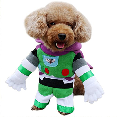 Buzz Dog Costume (Alfie Pet by Petoga Couture - Buzz Space Ranger Costume - Color: XS)