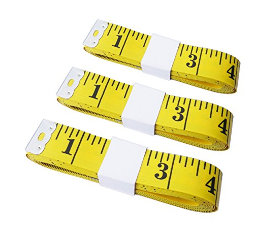 Tape Measure 300 cm/120 Inch Double-Scale Soft Tape, Measuring Body,Measurement Sewing Tailor Cloth Ruler (Set of 3)